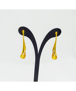 9ct Yellow Gold Dangle Earrings in Tulip Design - $279.50