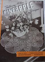 Clark's J&P Coats Book No 230 Featuring 14 New Pineapple Designs 1946 - $4.99