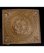 Antique Tiffany Belt Buckle - Vintage Hires Root beer Advertising buckle... - $310.00
