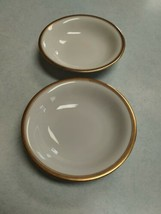 "Rosenthal China White with Gold Trim Set of 2  5 1/4"" Fruit / Dessert Bowls - $4.90"