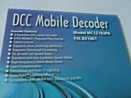 Soundtraxx 851001 MC1Z102P6 DCC Mobile Decoder 6-Pin NEM651 Plug & Play Format image 2