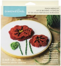 "Dimensions Punch Needle Kit 8"" Round-Poppies Pin - $20.46"