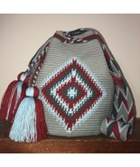 Authentic 100% Wayuu Mochila Colombian Bag Large Size Exclusive black l... - $85.00