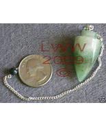Green Aventurine Gemstone Pendulum Wicca Pagan Scrying - $6.85