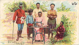 Singer Sewing  Zululand 1892 Victorian Trade Card - $7.00