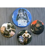 "STAR WARS Vintage Button/Pin Lot Darth ""VADAR"" Vader ESB Yoda ROTJ Endor - $24.99"