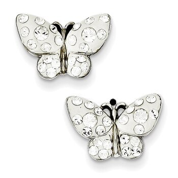 Primary image for Lex & Lu Sterling Silver Swarovski Elements Butterfly Earrings