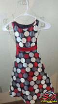 New •Bonnie Jean Holiday dress size 6/black, silver, red & white/sleevel... - $8.17