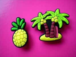 Clog Shoe Plug Button Charm Accessories Pineapple Palm Tree WristBand - $7.99