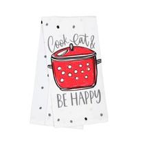 FLOUR SACK KITCHEN TEA TOWELS, Set of 4, Printed Cooking Designs Sayings, Cotton image 3