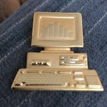 "Grandmas Estate Computer  2"" Brooch (1211) - $10.88"