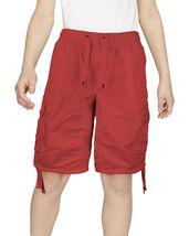 Boys Elastic Waist Drawstring Multi Pocket Cotton Toddler Kids Cargo Shorts image 12