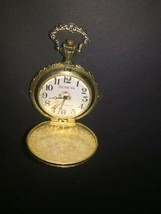Vintage Geneva one Jewel Pocket Watch Gold color metal material 2 inch - €23,83 EUR