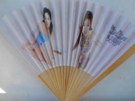 Vintage Asian Ladies  Girls Folding Hand Fan #188 - $7.99