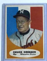 1961 Topps Baseball Card #137 Chuck Dressen Milwaukee Braves Manager - $4.00