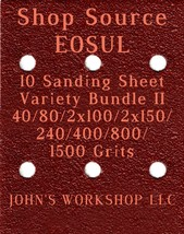 SHOP SOURCE E0SUL - 40/80/100/150/240/400/800/1500 - 10pc Variety Bundle II - $12.46