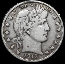 1913 Silver Barber Half Dollar Coin Lot A 361