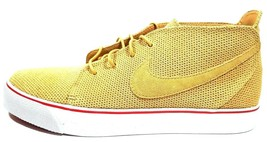 Nike Men's Shoes Toki Premium Retro Sneakers Gold/White-Sport Red 429774... - $49.99