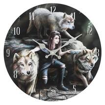 MDF Power of Three Wolf  Wall Clock 13730 - $18.20