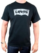 NEW NWT LEVI'S MEN'S PREMIUM CLASSIC GRAPHIC COTTON T-SHIRT SHIRT TEE BLACK