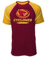 NCAA Iowa State Cyclones Men's Contrast Stitch Tee, Large, Crimson/Gold - $14.95