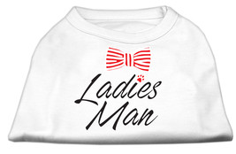 Ladies Man Screen Print Dog Shirt White XXXL (20) - $11.98