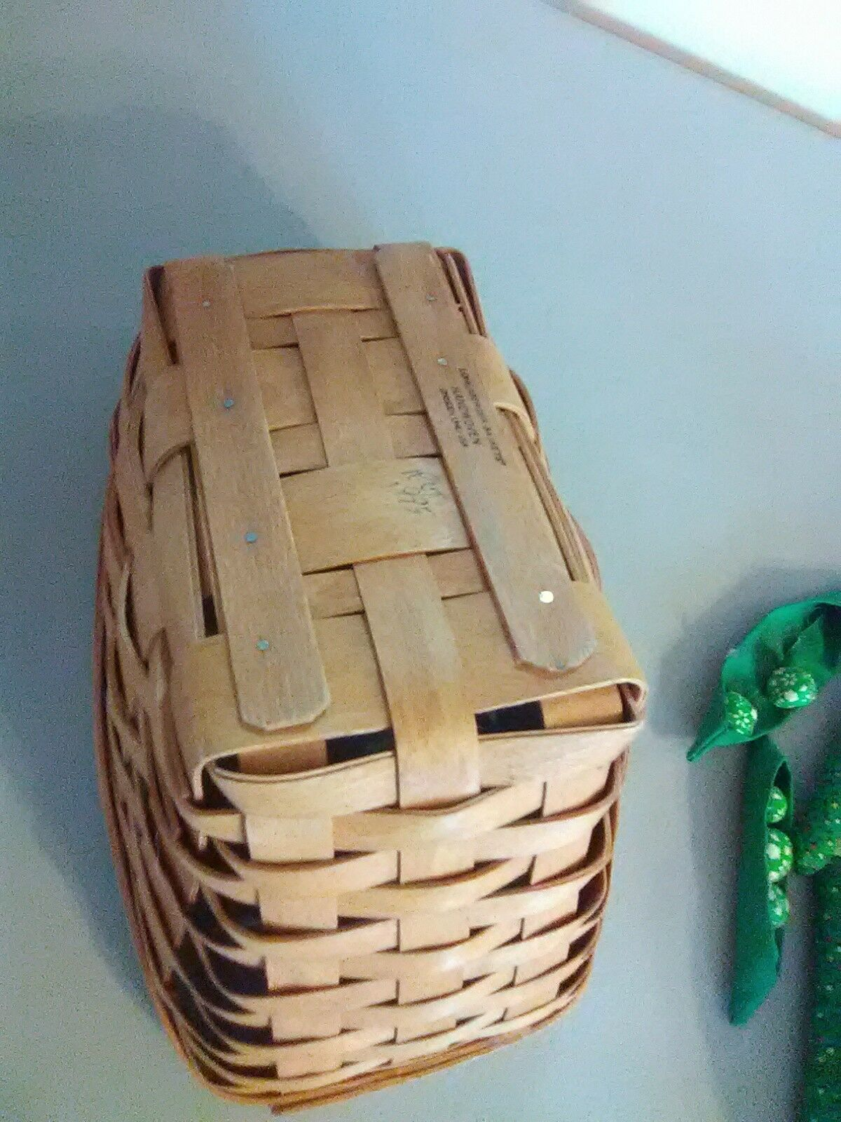 Longaberger Vegetable Sleigh Basket 1995  - Hand sewn vegetables image 8