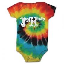 Jimi Hendrix Psicodélico Espiral Pelele para Bebé de una Sola Pieza Teñida - $22.00