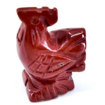 Rainbow Jasper Gemstone Tiny Miniature Rooster Figurine Hand Carved in China image 2