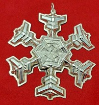 Vintage 1977 Gorham Sterling Silver Christmas Snowflake Ornament #10359 - $49.00