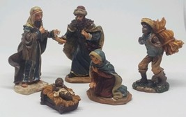 5 piece Christmas Nativity Set Scene Figures Figurines Baby Jesus Mary W... - $18.49