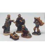 5 piece Christmas Nativity Set Scene Figures Figurines Baby Jesus Mary W... - $18.49