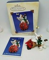 Hallmark Keepsake MISCHIEVOUS KITTENS Calico Cat 4th 2002 Christmas Orna... - $11.99