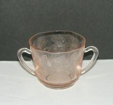 Vintage Pink Depression Glass SUGAR BOWL Dogwood Pattern - $19.98