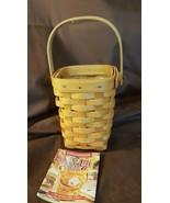 Longaberger 1998 HORIZON OF HOPE Basket Breast Cancer Awareness With Pro... - $19.95