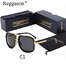 reggaeon 2018 Classic Men Square Sunglasses Grandmaster Cool Vintage Met... - $19.97