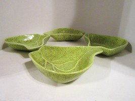 Lazy susan green pottery leaf dishes 08 thumb200