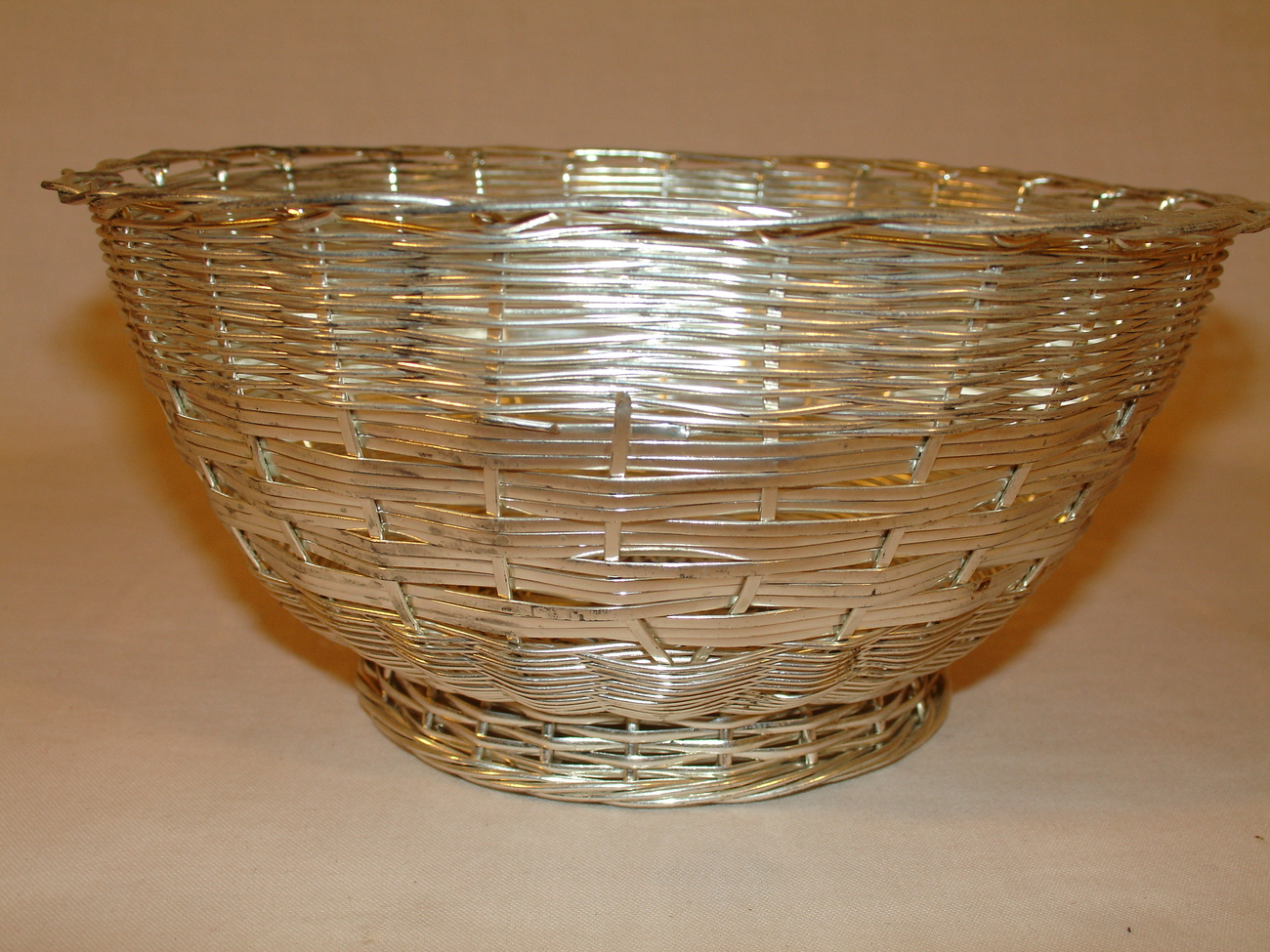Silver Colored  Wire Basket  6.75 inches