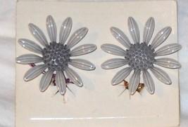 Fun for Spring Enamel Sunflower Earrings - $4.00