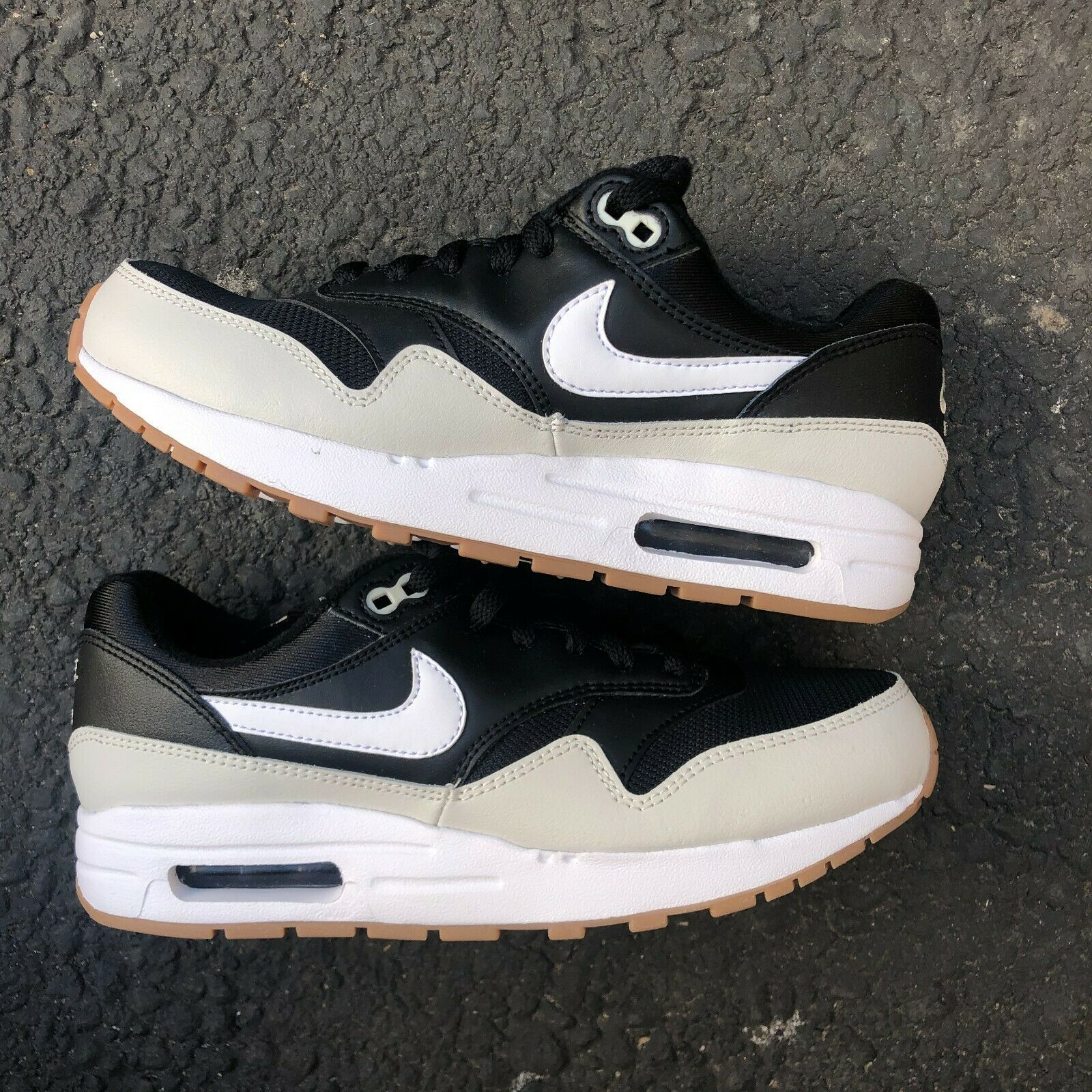 Primary image for NIKE AIR MAX 1 GS BLACK LIGHT BONE KIDS' ATHLETIC SNEAKER 807602-011 YOUTH 7Y
