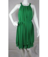 Jessica Simpson Damen Ärmelloses Kleid Grün Polyester Größe 10 - $23.17
