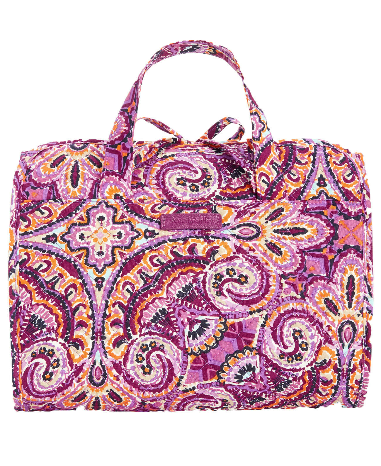 Vera Bradley Iconic Hanging Travel Organizer NWT Dream Tapestry Purple Packable image 6