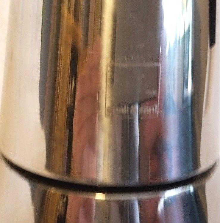 Gnali & Zani Stove Top Espresso Maker Stainless Steel Two Part 12 Ounce