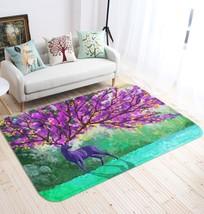 3D Deer Paint 3 Non Slip Rug Mat Room Mat Quality Elegant Photo Carpet U... - $106.68+