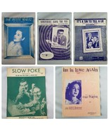 Vintage Sheet Music 1950s Assorted Lot of Song Books 6 Songs - $27.89