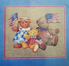 Dimensions Bear Patriots Counted Cross Stitch Kit MPN 3688 Flags Teddy B... - $20.00