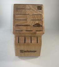 Vintage Wusthof Wood Knife Block - 15 Slots Oak Great Condition - $23.75