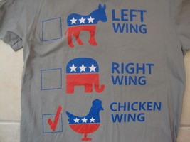 Chicken Wing political party funny gray t-shirt size M - $17.81