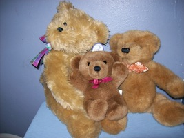 Collection of bears -Lot of 3 - $7.50