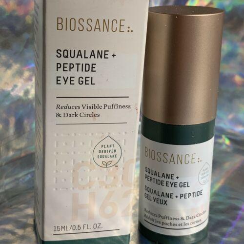 Biossance Squalane + Peptide Eye Gel BRAND NEW IN BOX 15mL + Sample